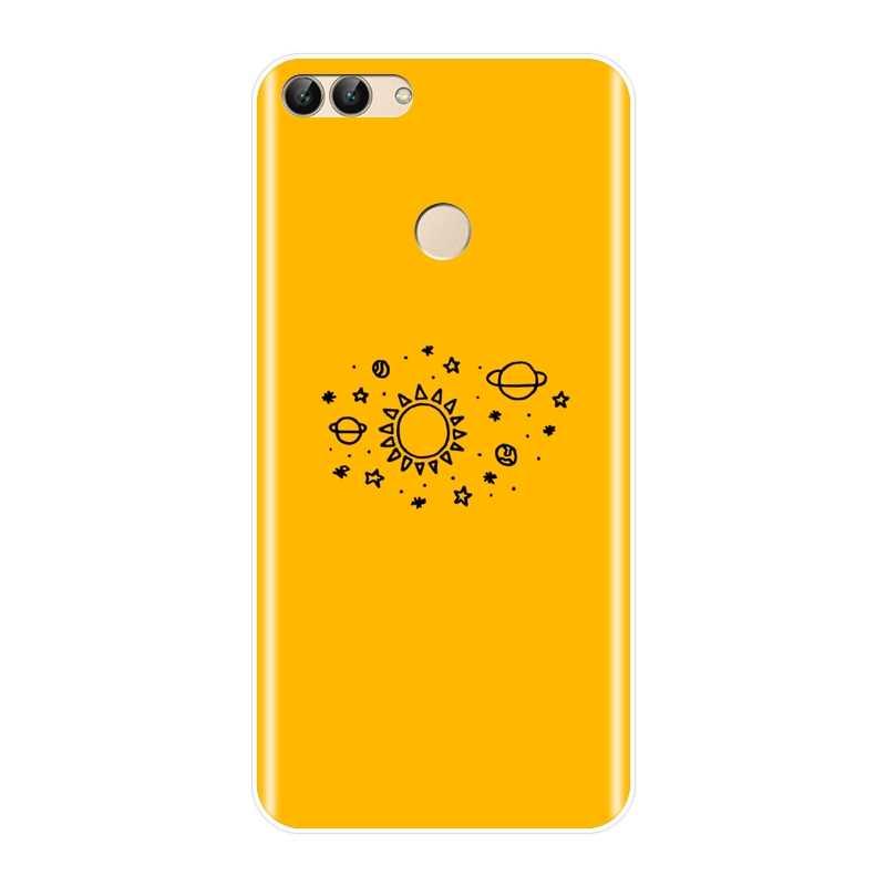 Желтый пространство мягкая задняя чехол для huawei P9 P10 Plus P20 Lite Pro P умный силиконовый чехол для телефона huawei P8 P9 P10 P20 Lite 2017