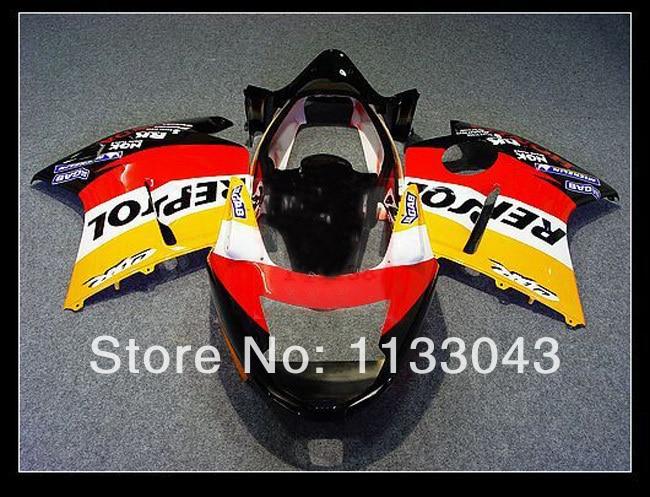 Инъекции обтекатель комплект красный repsol для Honda CBR1100XX 96-05 CBR1100 XX 96 05 1996 2005 CBR 1100XX 96 05 CBR 1100 XX 96 05