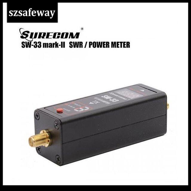 SW 33 Universal MINI Digital VHF/UHF Power & SWR Meter 125 525MHz SW 33 For Baofeng Walkie Talkie FM Two Way Radio