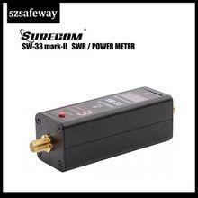 SW 33 evrensel MINI dijital VHF/UHF güç ve SWR metre 125 525MHz SW 33 Baofeng Walkie talkie FM iki yönlü telsiz