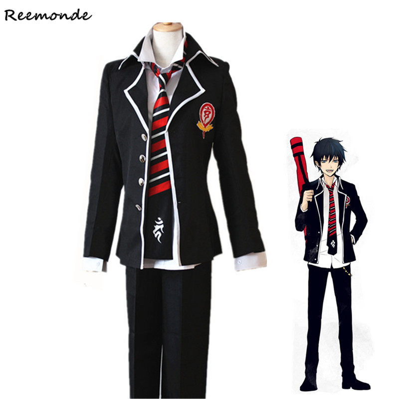 Anime Ao no Blue Exorcist Rin Okumura Cosplay Costume Tie Free Track number