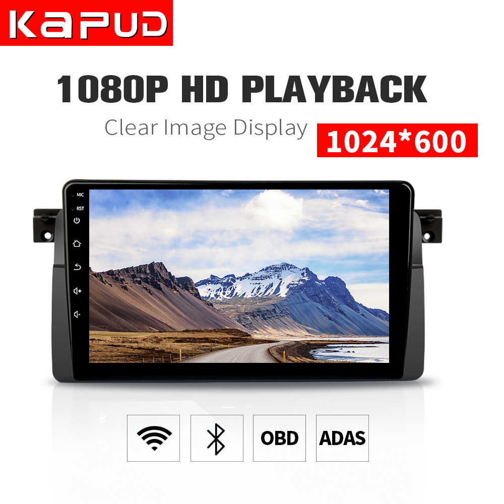 Kapud coche reproductor Multimedia Android 9,0 DVD estéreo sistema GPS Wifi BT SWC Quad Core para BMW E46/ m3/Rover 75/MG ZT/3 de serie