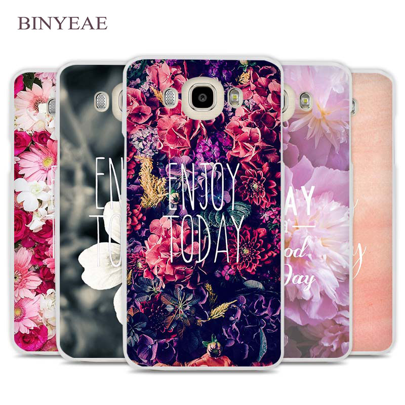 BINYEAE Enjoy Today Red Roses Cell Phone Case Cover for Samsung Galaxy J1 J2 J3 J5 J7 C5 C7 C9 E5 E7 2016 2017 Prime