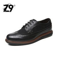Z9 2017 Spring New Men Shoes Fashion Men Casual Shoes Sporty Walking Shoes Brogue Style Novelty