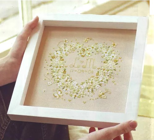 3D Beaded Embroidery New Hot Needlework Wedding Anniversary Green Mood Cross Stitch Kit Unfinished Painting Fashion Home Decor