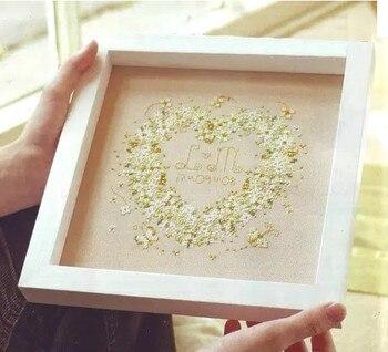 3D Bordado Com Cercadura New Hot Needlework Casamento aniversário humor Verde Pintura Inacabada do Ponto da Cruz Kit Moda de Decoração Para Casa