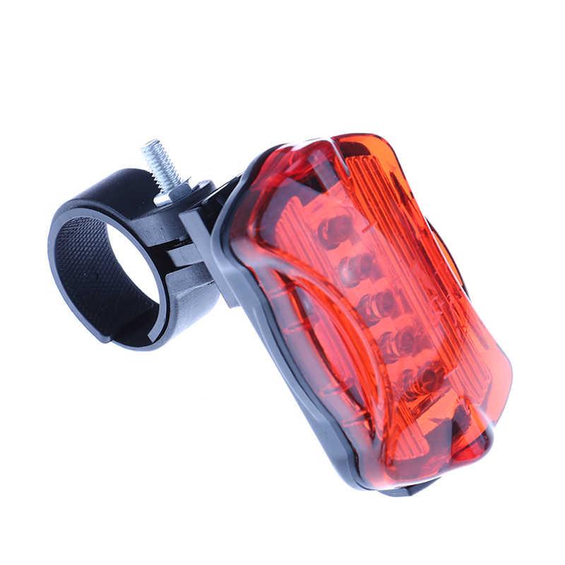 LED Arka Kuyruk Lambası Güvenlik Uyarı Bisiklet Arka Lambası Işık 6 Flaş Modları Su Geçirmez Bisiklet Işık Süper Parlak Bisiklet Işıkları