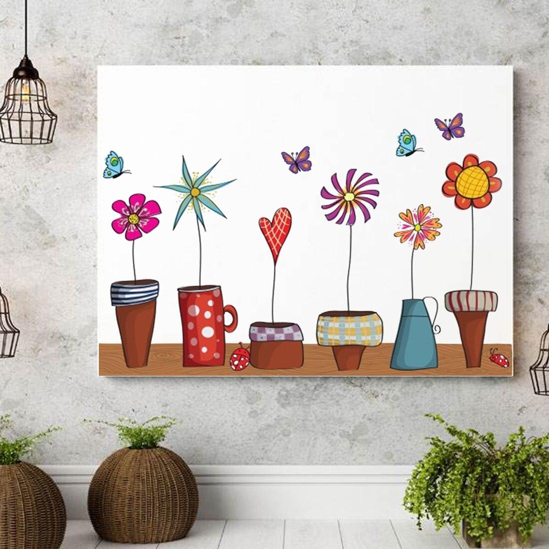 Cute Home Decor: Cool Cute Flower Wall Sticker Kitchen Window Sticker