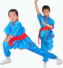 New Kids Adults Chinese traditional Short Sleeve Wushu Clothing Martial Arts Uniform Kung Fu Suits for Men цена в Москве и Питере