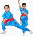 Miúdos novos Adultos tradicional Chinesa de Manga Curta Roupas Roupas de Artes Marciais Wushu Uniforme Kung Fu Se Adapte para Homens