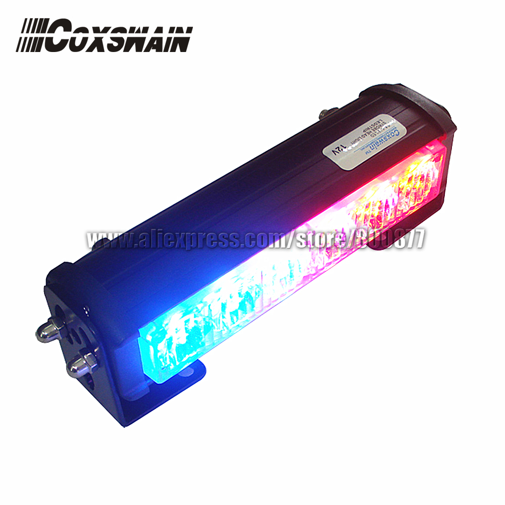 DC12V High Power Car LED external warning light, TIR-6 1W LED, 3 flash patterns, waterproof, SAE & ECE R65 passed (SA-618-1)
