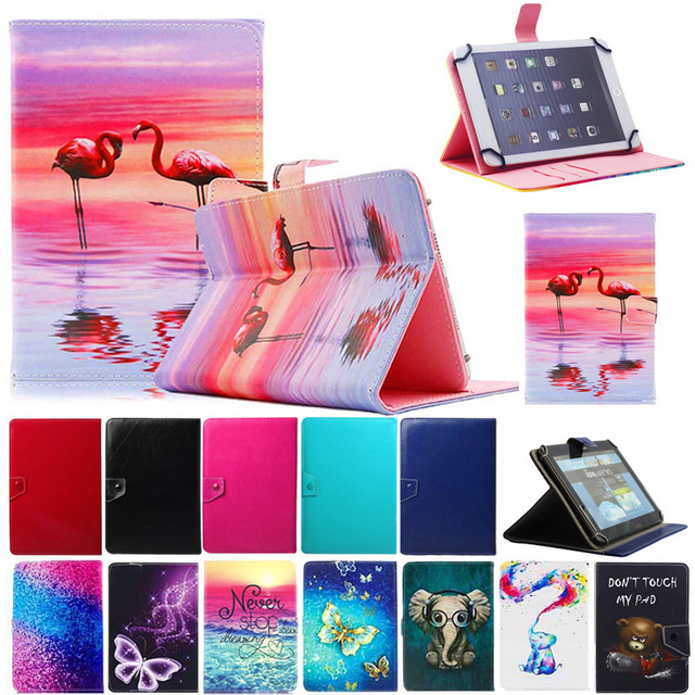 "Universal Case for 9.7"" 10"" 10.1"" inch Tablet PC Printed Leather Case Stand Cover for iPad 2 3 4 Air Samsung Tab 9.7 Lenovo"