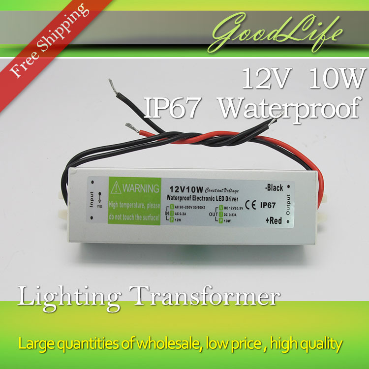 DC 12V 10W Waterproof IP67 LED Driver,Powers