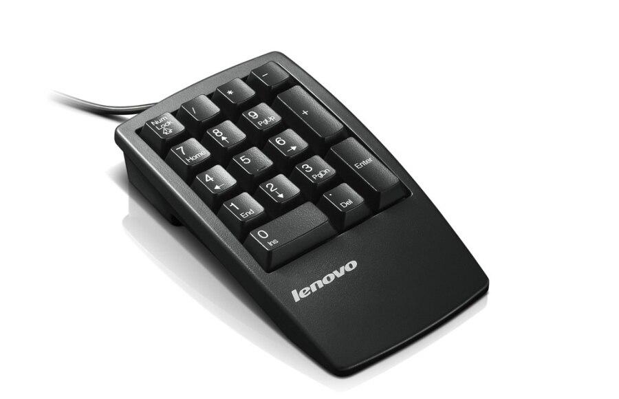 NEW/Orig For thinkpad Lenovo mini wired usb numeric keypad external financial 0b47087 33L3225 usb wired numeric keypad black white