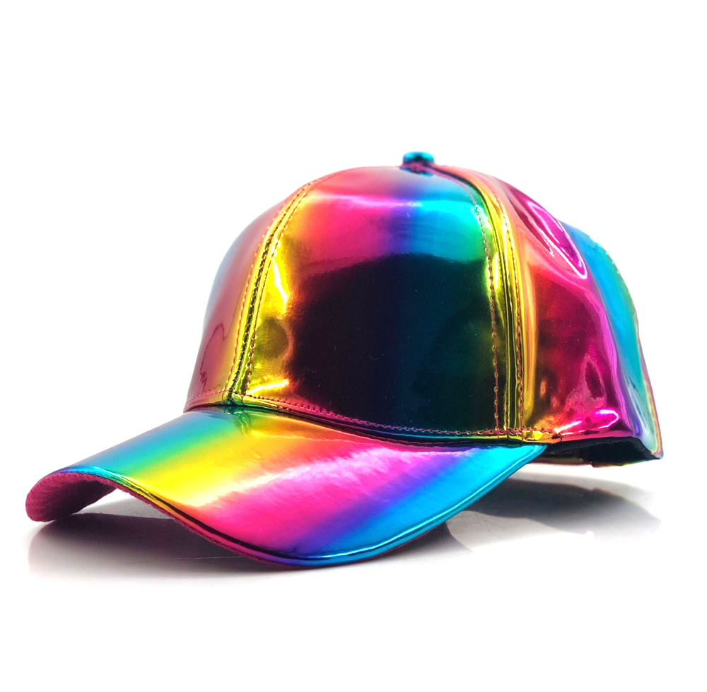 luxury Fashion hip-hop hat for Rainbow Color Changing Hat Cap Back to the Future Prop <font><b>Bigbang</b></font> G-Dragon Baseball Cap image