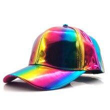 Sombrero de lujo de moda de hip-hop para Arco Iris Color que cambia el sombrero de la gorra de nuevo al futuro Prop Bigbang g-dragon gorra de béisbol