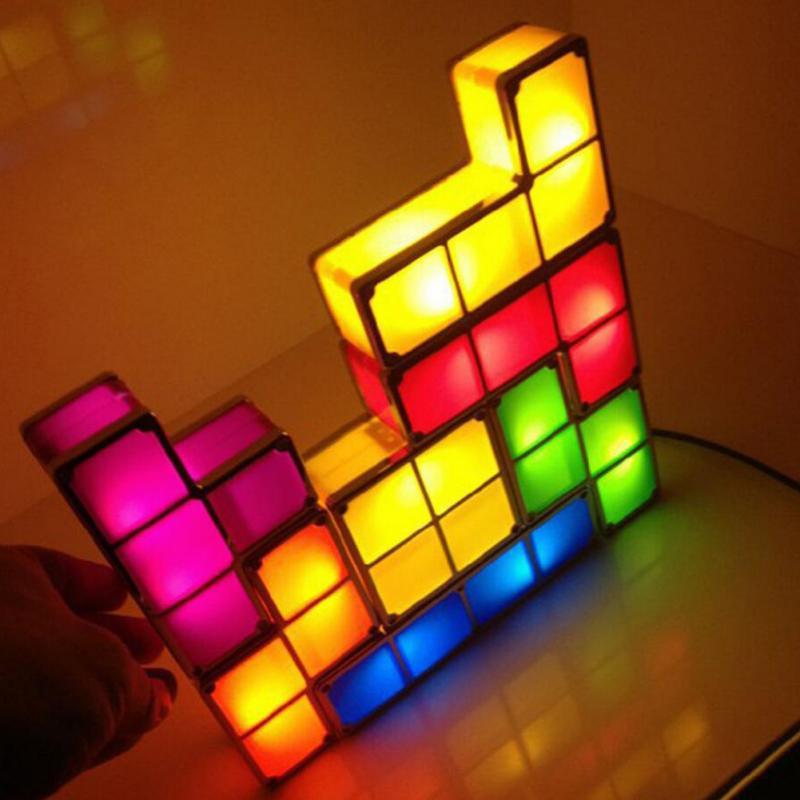 DIY Tetris Lights Constructible Retro Game Style Colorful Stackable LED  Night Light Desk Lamp(China - Online Buy Wholesale Tetris Lamp From China Tetris Lamp