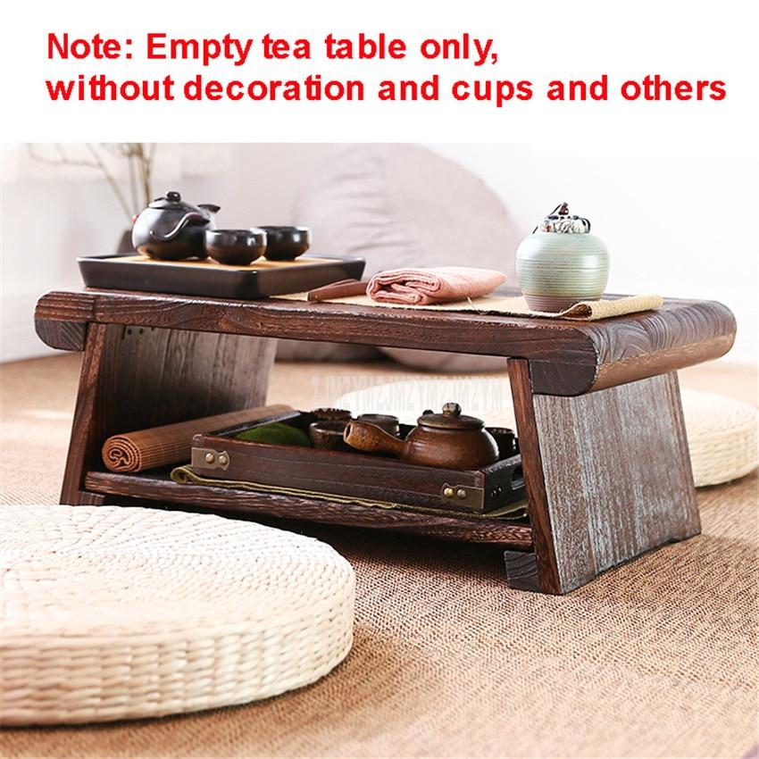 Table à thé japonaise en bois pliable pour meubles de salon moderne minimaliste Tatami café Table basse pliante en bois massif