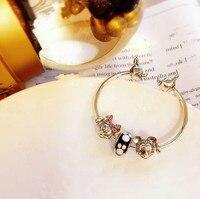 Original copy 1:1 high quality 100% 925 sterling silver Mickey Pandora Bracelet