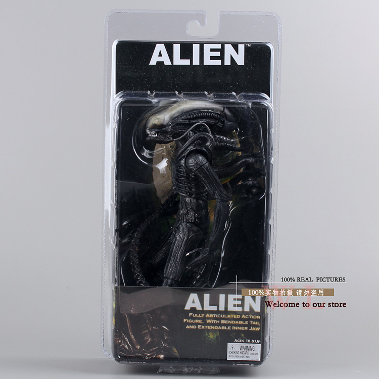 NECA Official 1979 Movie Classic Original Alien PVC Action Figure Collectible Toy 7inch 18cm neca the terminator 2 action figure t 800 endoskeleton classic figure toy 718cm 7styles
