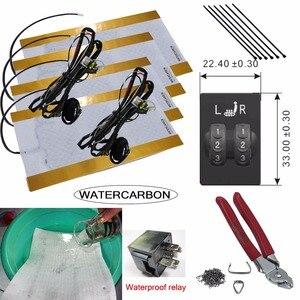 Image 1 - 무료 배송 2 석 도요타 좌석 방수 히터 탄소 섬유 원래 자동차 좌석 히터 12 v 설치 도구에 적합