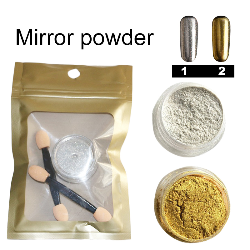 Glitter Mirror Powder Gold Silver Pigment Chrome Effect