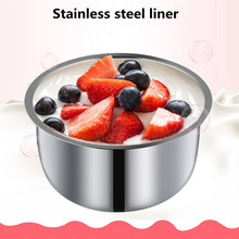 220V Household Electric multifunction Yogurt Maker Stainless Steel Liner Mini Automatic Yogurt Machine 1L Capacity Kitchen