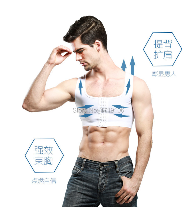Hot Men Gynecomastia Shaper New Slimming Chest Control Boobs Shapewear Extra Firm Undergarments Stomach Girdles Hook