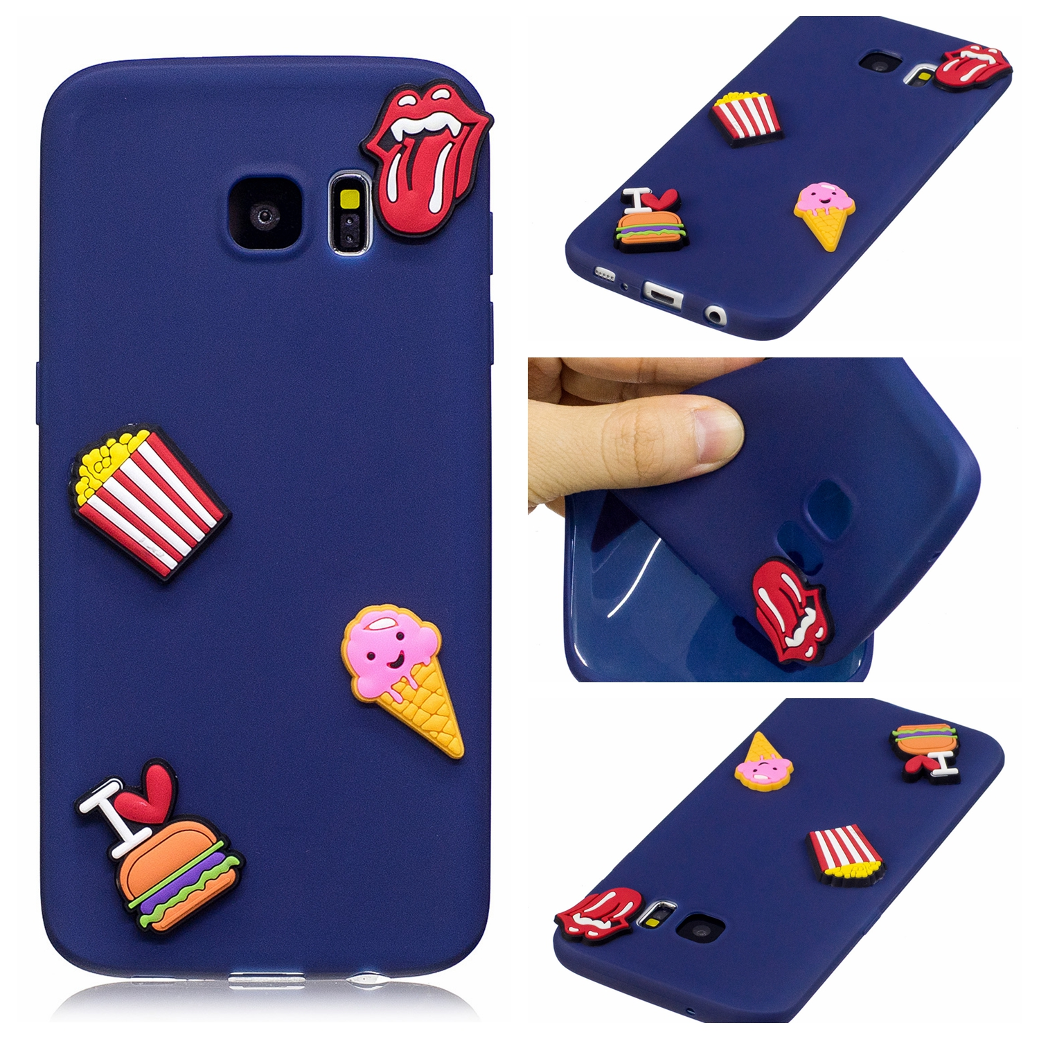 DIY TPU soft shell Silicone Case for Samsung Galaxy S 7 S7 7S G930F SM-G930F G930FD SM-G930FD Phone Case TPU Frame Core Cover