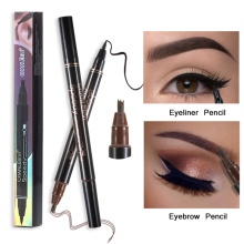 1 Pcs Double-Headed and eyebrow pencil 2-in-1 Waterproof full professional makeup fine sketch cosmetics