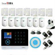 SmartYIBA Wireless Wifi WCDMA 3G Home Security Burglar Alarm System Video IP Camera Russian Spanish French German Voice
