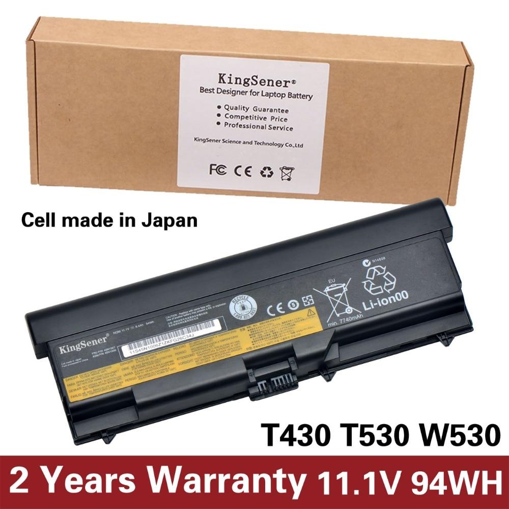 11.1V 8400mAh KingSener Japanese Cell Battery for Lenovo ThinkPad T430 T430I T530 T530I W530 SL430 SL530 L430 45N1007 45N1006 new for lenovo thinkpad t530i t530 w530 bottom case base 04y2053