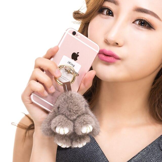 2017new conejos rex fur animal llavero llaveros para regalo de la muchacha real de piel de visón de piel de conejo pompón clave chais ccute conejito pompón conejitos