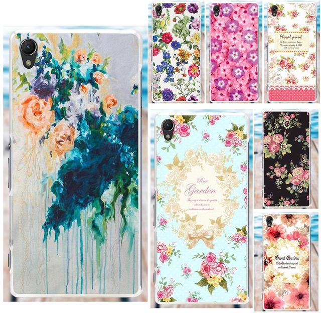 MicroData Soft Case Cover For Sony Xperia Z Z1 Z2 Z3 Z4 Z5 compact Mini M2 M4 M5 T3 E3 XA Floral Art Painted Flower