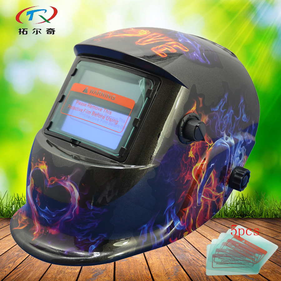 black tig welding mask PP auto darkening welding helmet Brand Skull Solder Full Automatic Solar and Battery Supply HD11(2200DE)