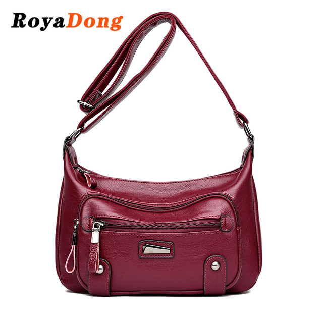 Royadong Brand Luxury Women Shoulder Bags Soft Leather Messenger Bag Las Crossbody Hobos Handbags