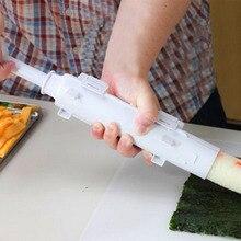 Многоразовый суши валик для самостоятельной покраски инструмент кухонный ручной ролик набор для приготовления суши прочный PP цилиндрический бочонок DIY суши форма для вафель производитель