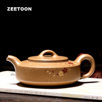 190cc Authentic Yixing Teapot Plum Zhou Pan Pot Chinese Health Teaware Purple Clay Tea Set Tea Pot Tea Maker Vintage Home Decor