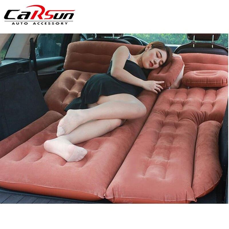 2019 acampamento cama de carro 185*110 cm carro colchão carro volta assento capa colchão ar colchon inflável para viagem automática cama para suv