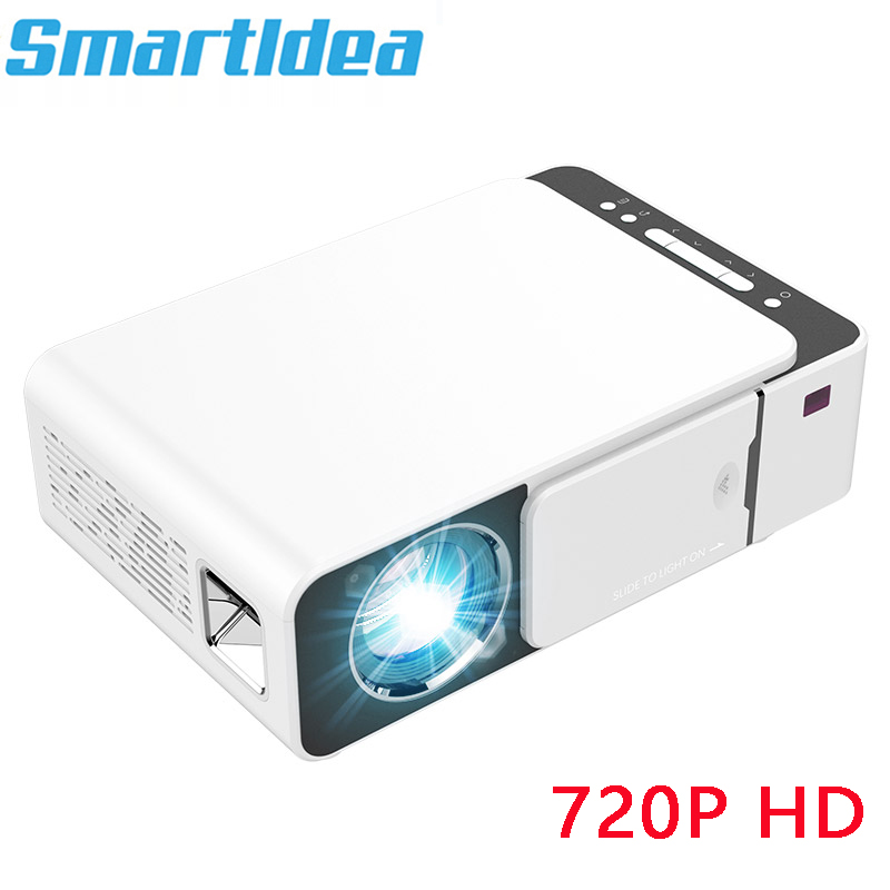 Smartldea New S6 1280 x 720p Portable Projector HD home theater proyector 1080p suport video game beamer with HDMI USB VGA AV(China)
