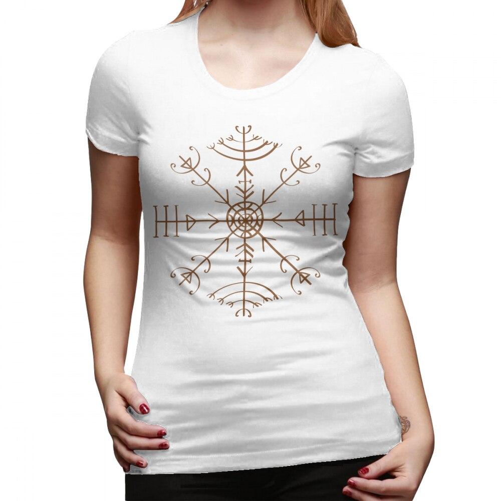 US $10 99 40% OFF|Good Witch T Shirt Veldismagn Icelandic Bind Rune  Protection Health Good Luck T Shirt Short Sleeve tshirt Ladies Tee Shirt-in
