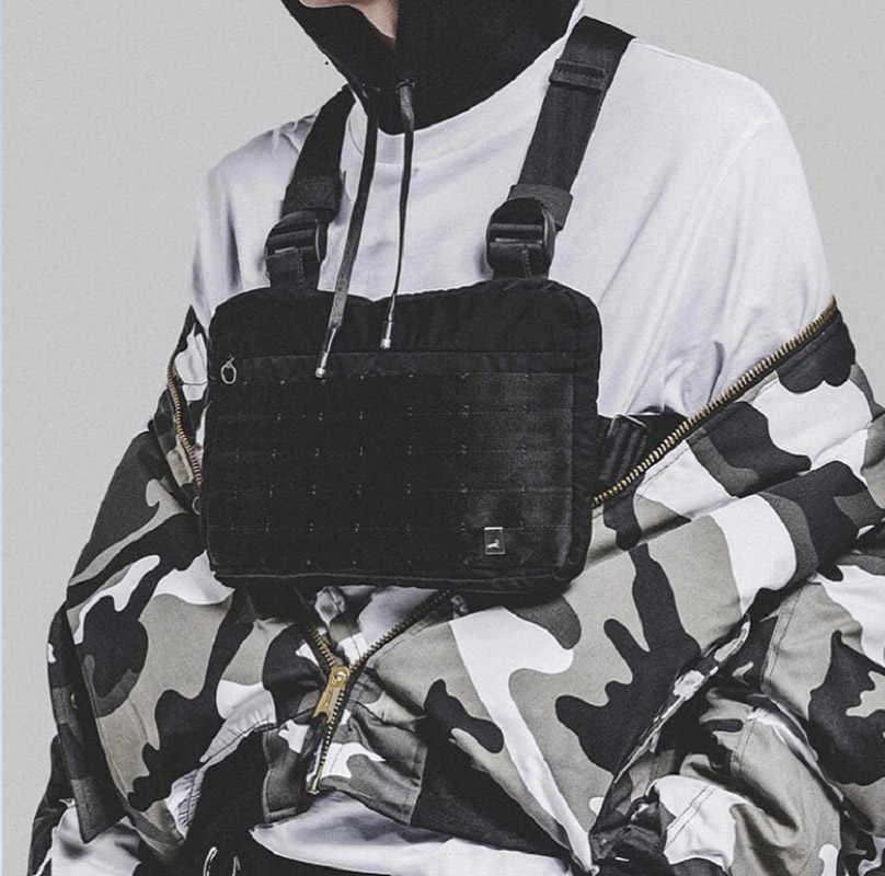 Fashion Dada Rig Pria Hip Hop Streetwear Kasual Fungsional Taktis Tas Dada Kanye West Keren Anak Laki-laki Cross Tas Bahu C22