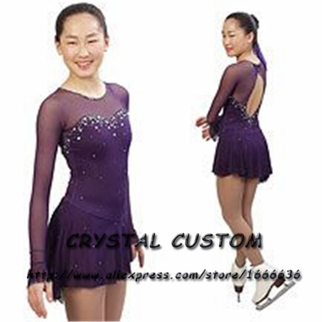 Custom Figure Skating Dress For Competition Fashion New Brand Ice Figure Skating Dress For Children DR3572