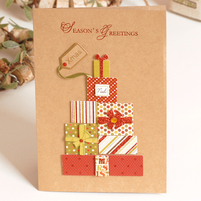 2017 vintage paper 3d chirstmas greeting cards handmade kraft 2017 vintage paper 3d chirstmas greeting cards handmade kraft christmas cards business gift in cards invitations from home garden on aliexpress m4hsunfo