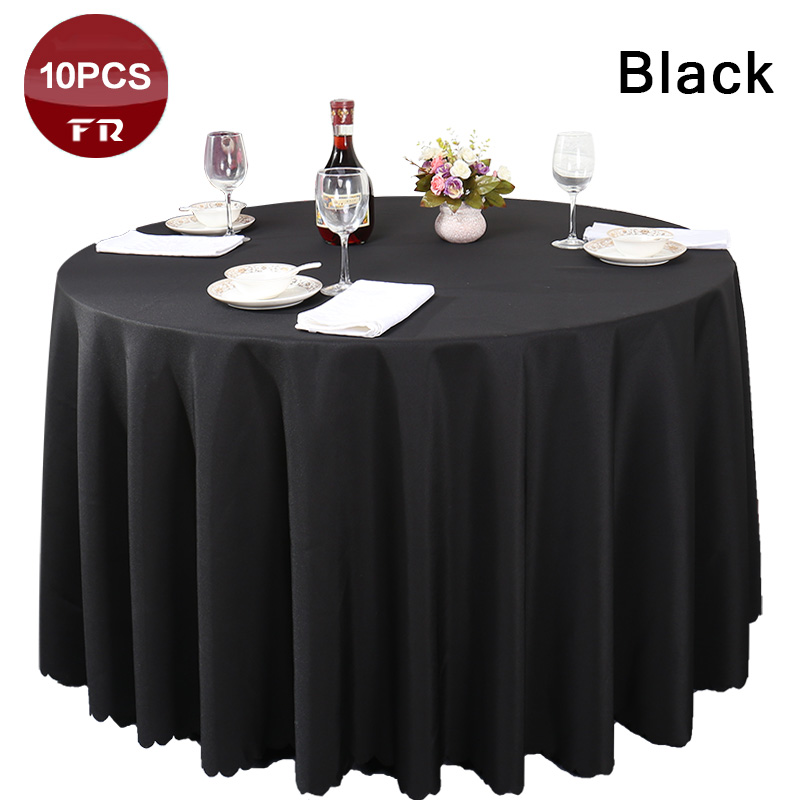 Free Shipping 10PC Elegant Polyester Linen Table Cloth Oval for Wedding Party Banquet Hotel Dining Table