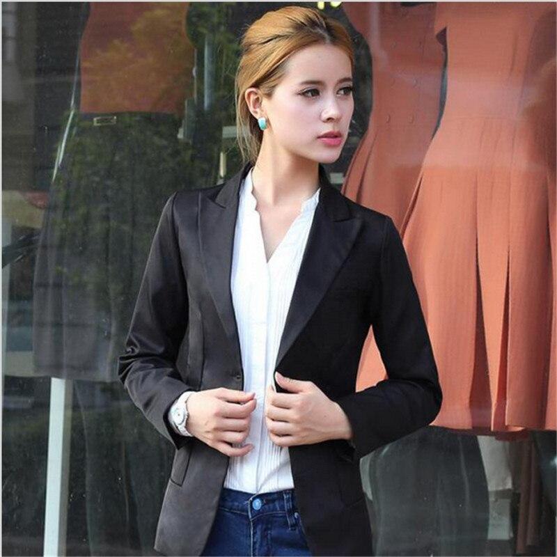 Casual Women Blazers 2017 Jackets Slim Blazer Feminino Women With One Button Womens Jacket And Coat Jaqueta Feminina