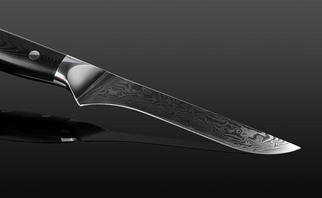 Hand Forged Damascus Boning Filleting Knife
