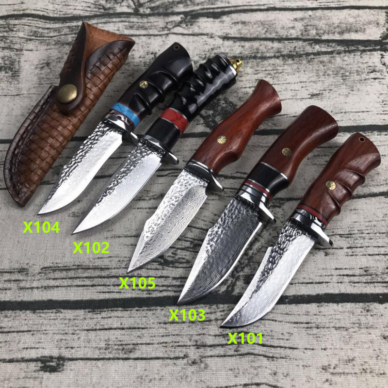 Handmade camping damask steel straight knife outdoor tactics hardness sharp small knives sushi professional cleaver Forged gift in Kitchen Knives from Home Garden