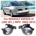 Para Renault ESPACE 4/IV (JK0/1 _) MPV 2003-2012 FOG LÂMPADAS Car Styling Luzes de Halogéneo de Nevoeiro Alto Brilho do Amortecedor dianteiro