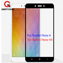 GerTong Full Cover Screen Protector Tempered Glass For Xiaomi Redmi Note 4 Global Version Note 4X 4 Pro 4A Color Protective Film